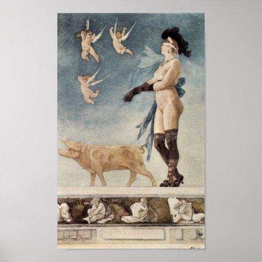 Felicien Rops - Pornocrates Posters