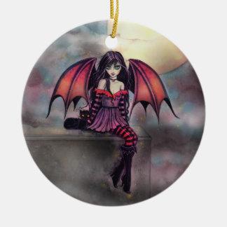 Felik Halloween för lite gotisk vampyr prydnad Julgransprydnad Keramik
