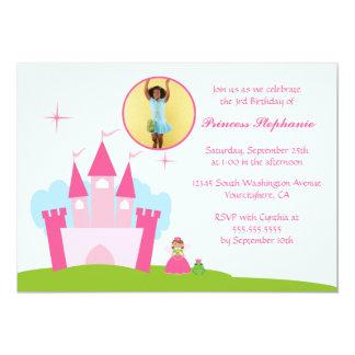 Felik princessslottfödelsedagsfest inbjudan