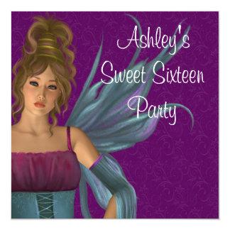 Felikt party för Princess Lila Kricka Sötsak 16 Fyrkantigt 13,3 Cm Inbjudningskort