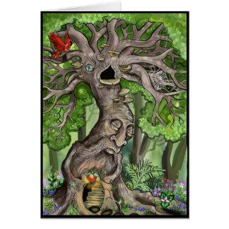 Felikt trädhem hälsningskort