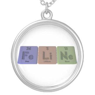 Feline-Fe-Li-Ne-Iron-Lithium-Neon.png Silverpläterat Halsband