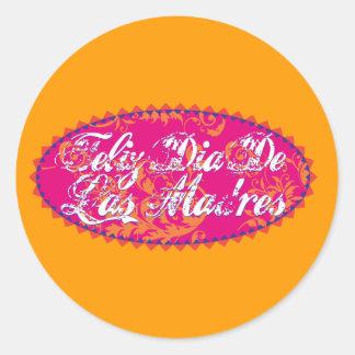 Feliz Diameter De Las Madre Runt Klistermärke