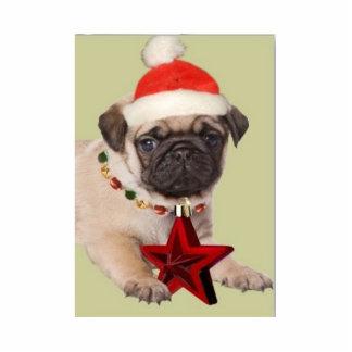 Feliz Natal! Pug Fotoesculturas