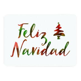 Feliz Navidad (bokehträdljus) 12,7 X 17,8 Cm Inbjudningskort