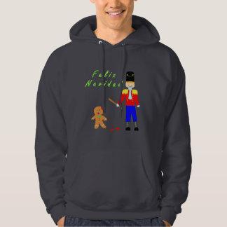 Feliz Navidad Gingerdead man Hoodie