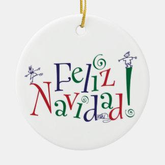 Feliz Navidad prydnad Julgransprydnad Keramik