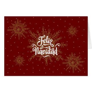 Feliz Navidad spanjorjul Hälsningskort