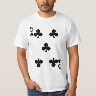 Fem av klubbar som leker kortet tshirts