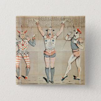 Fem firade clowner som fästas till Sands Standard Kanpp Fyrkantig 5.1 Cm