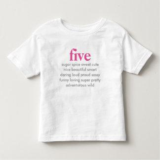 fem födelsedag skjorta t-shirts