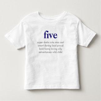fem födelsedag skjorta tee