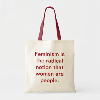 Feminism 101 hänger lös budget tygkasse