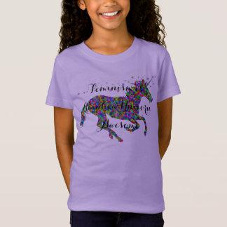 Feminism är T-tröja för flickor för Tee Shirt