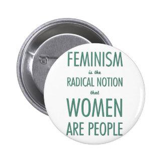 Feminism: Den radikala aningen att kvinnor är folk Knapp Med Nål