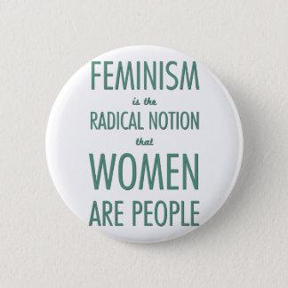 Feminism: Den radikala aningen att kvinnor är folk Standard Knapp Rund 5.7 Cm