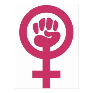 Feminism för segern vykort