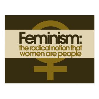 Feminism Vykort