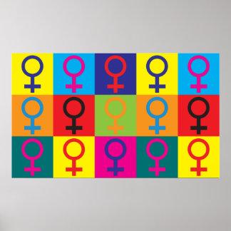 Feminismpopkonst Poster