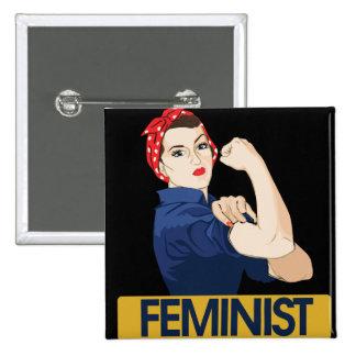Feminist Standard Kanpp Fyrkantig 5.1 Cm