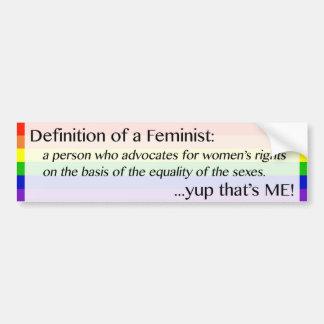 Feminist - yup som är mig! Bildekal