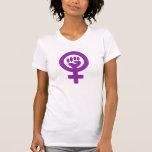 Feministen driver/kvinnan driver tee shirt
