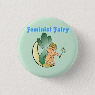 Feministisk fe (version 2) mini knapp rund 3.2 cm