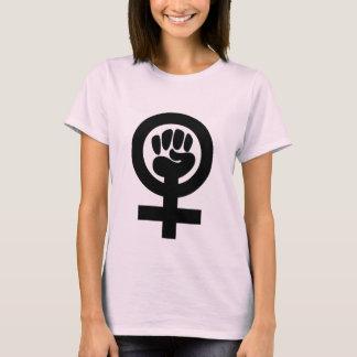 Feministisk nävesymbolskjorta t shirts