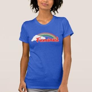Feministisk regnbåge tee shirts