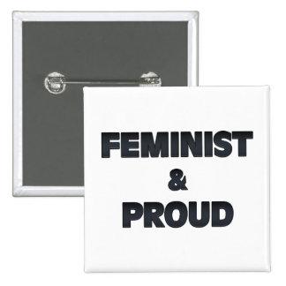 Feministiska och stolt 2 knapp med nål