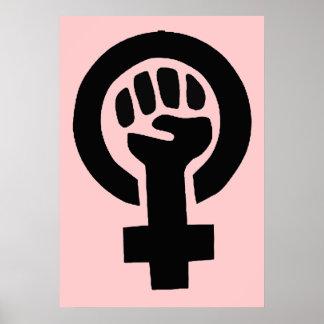 Feministiskt symbol för kvinnagenderjämställdhet poster