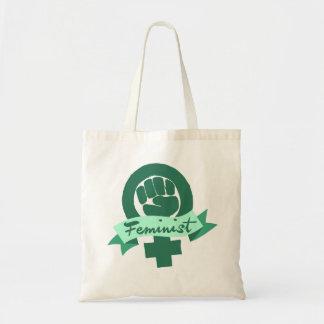 Feministiskt symbol i kricka tygkasse
