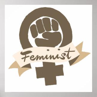 Feministiskt symbol poster