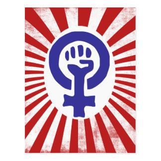 Feministiskt symbol vykort