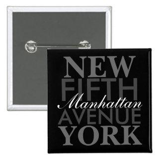 Femte aveny New York Standard Kanpp Fyrkantig 5.1 Cm