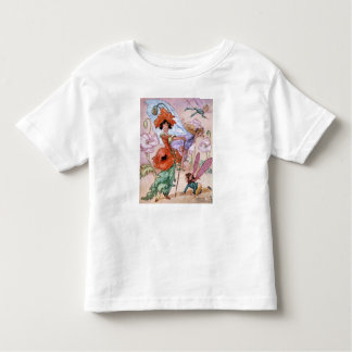 Fen i innegrej poserar, tee shirts