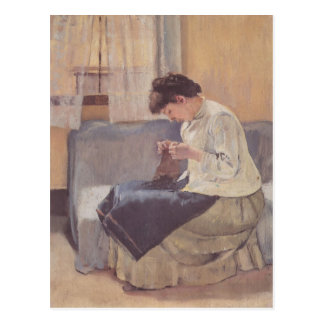 Ferdinand Hodler- Seamstress Vykort