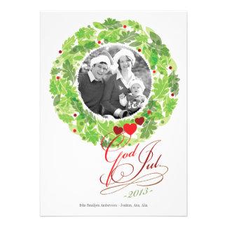 Feriekranen Foto Julkort Tillkännagivande