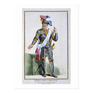 Fernand Cortez (1485-1547) som inristas av Pierre Vykort