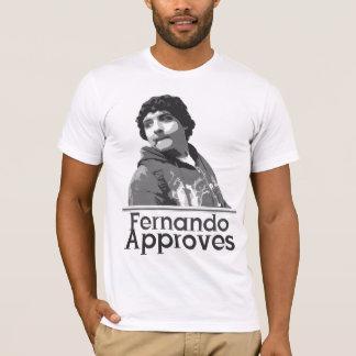 Fernando godkänner t-shirts