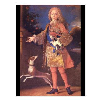 Fernando VI av Spain', Jean Ranc_Portraits Vykort