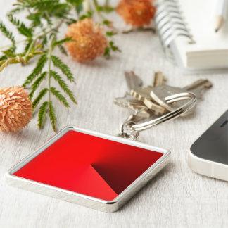 Ferrari röd Keychain stil Fyrkantig Silverfärgad Nyckelring
