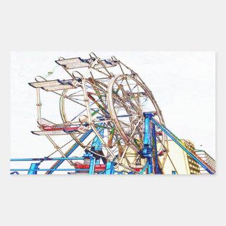Ferris Rulla-Krita skisserar vid Shirley Taylor Rektangulärt Klistermärke