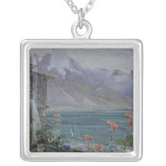 Ferritet sjö Geneva, 1882 Silverpläterat Halsband