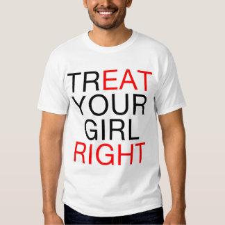 Fest din högra flicka t shirts