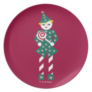 Fest för candy caneMartzkin jul pläterar Tallrikar