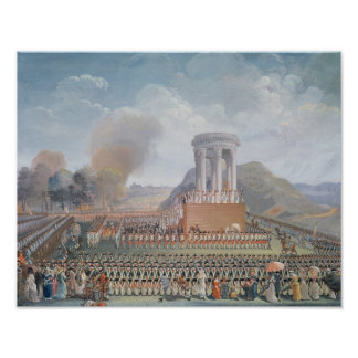 Festival av federationen, 14th Juli 1790 Poster