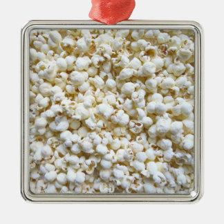 Festlig dekor för Popcornstrukturfotografi Julgransprydnad Metall