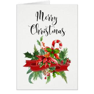 Festlig god julCalligraphy och julstjärna Hälsningskort