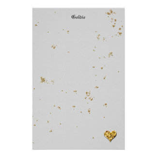 Festlig guld- kaka brevpapper